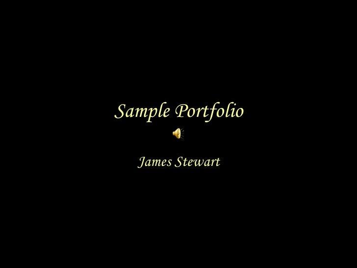 Sample Portfolio James Stewart