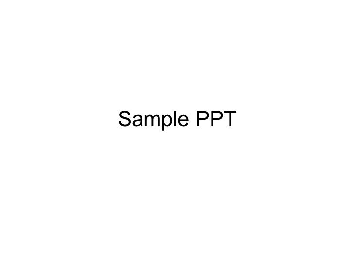 Sample PPT