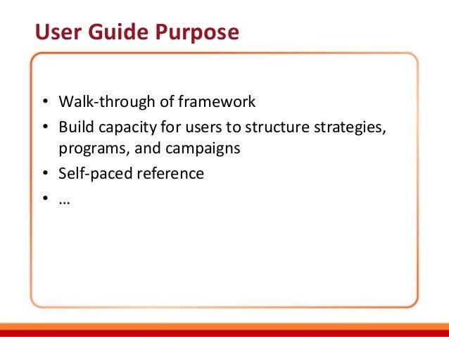 sample ppt for framework user guide rh slideshare net Clip Art User Guide Example User Guide