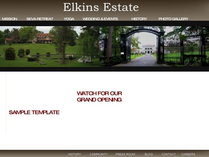 at Elkins Estate HISTORY  COMMUNITY  PRESS ROOM  BLOG  CONTACT  CAREERS  Elkins Estate MISSION  SEVA RETREAT  YOGA  WEDDIN...