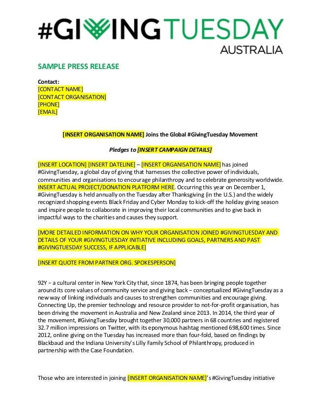 sample of press release