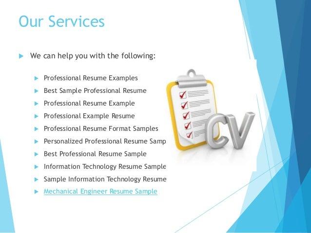 SlideShare  Best Professional Resume Examples