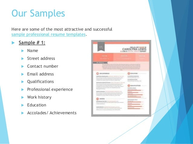 engineer resume sample 5 our samples - Attractive Resume Templates
