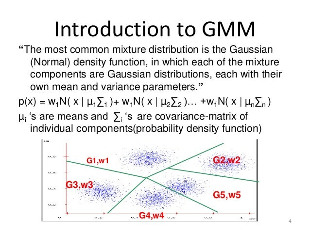 gaussian mixture model This blog post is the fourth part of the series on clustering with dirichlet process mixture  model of dirichlet process mixture  and gaussian data.