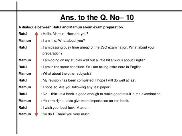Sample Questions And Answers For Class JSC Students Bangladesh