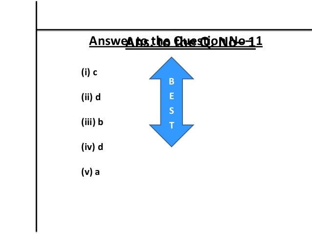 Sample questions and answers for class JSC students