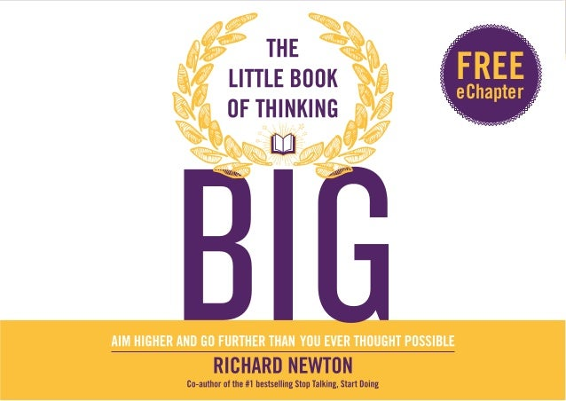 THE LITTLE BOOK OF THINKING BIG  1  FREE  eChapter