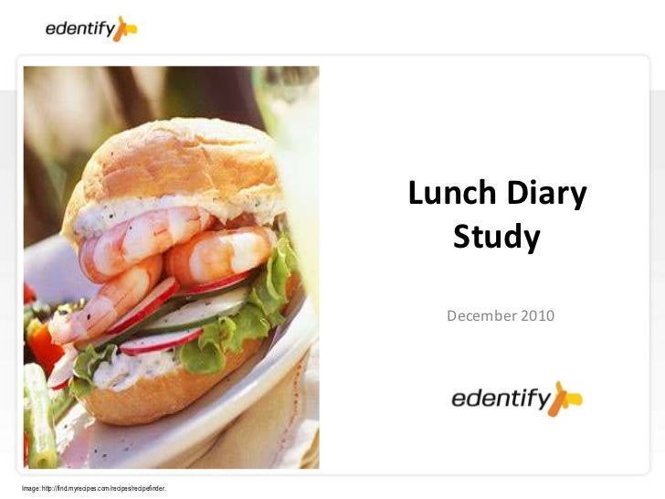 Lunch Diary                                                            Study                                              ...