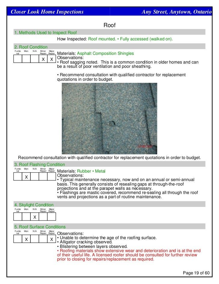 roof report template