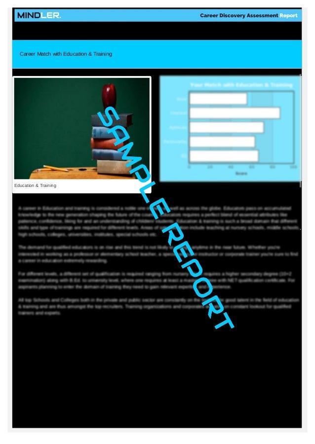 Doc638826 Sample Career Assessment Career Assessment Report – Sample Career Assessment