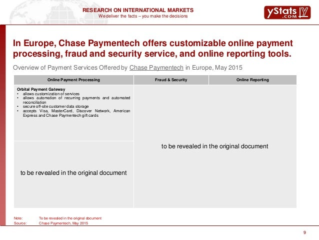 Sample Report Chase Paymentech Company Profile 2015 Online Payment