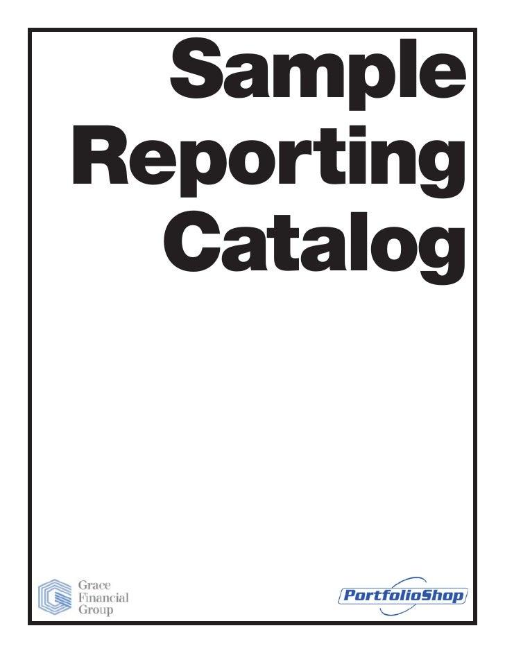 Sample Reporting   Catalog