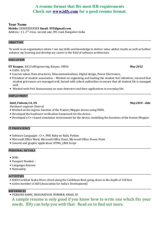 sample software engineer resume india  capgemini india
