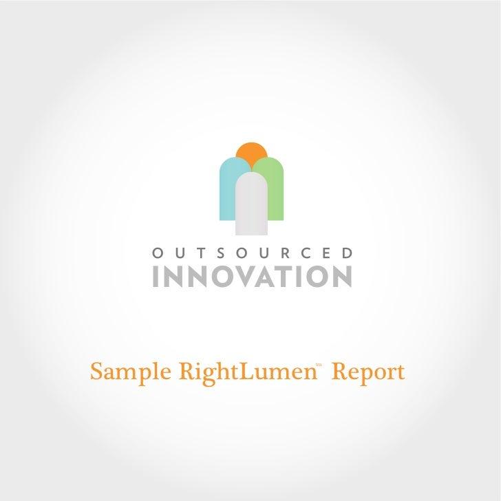 Sample RightLumen Report                 tm
