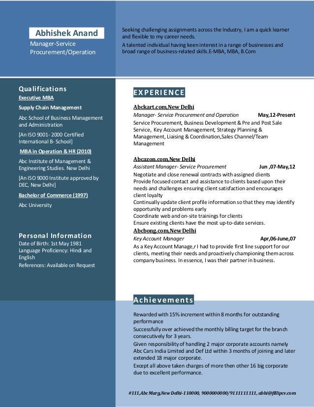 SAMPLE 5 12 Resume Format for