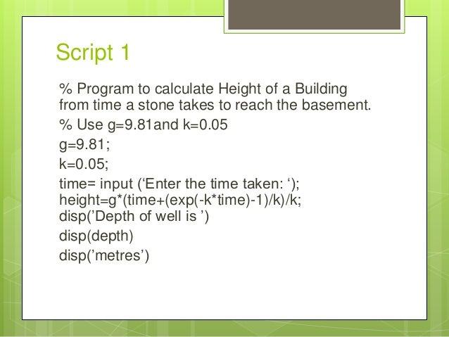 Matlab Scripts Examples