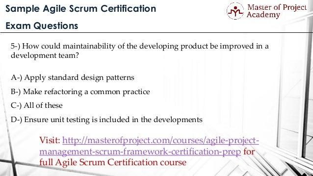 Sample Agile Scrum Certification Exam Questions