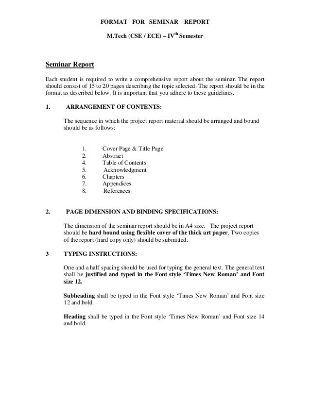university report writing template