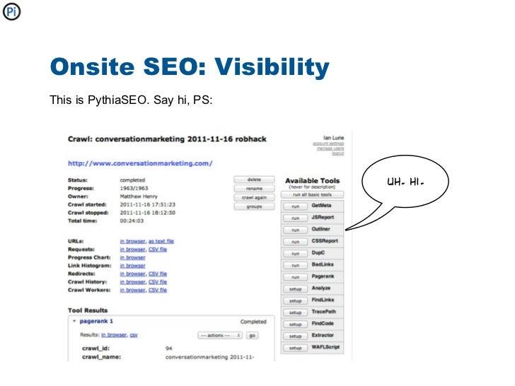 Onsite Seo Visibilitythis Is Pythiaseo