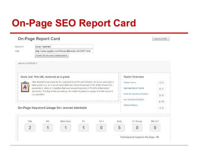 Sample seo report