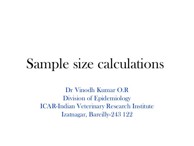 Sample Size Calculations