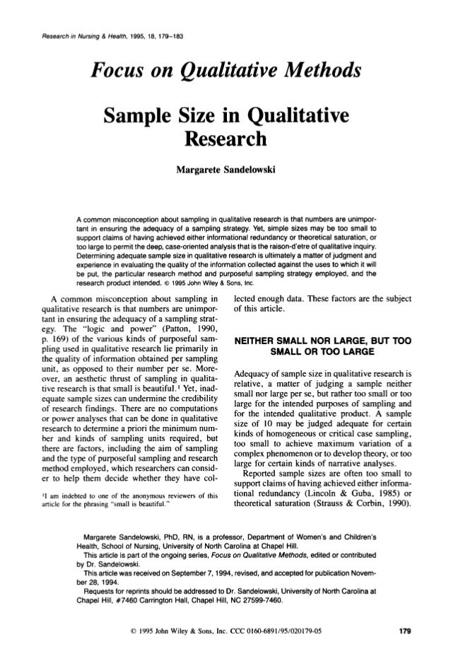 Writing a qualitative research paper