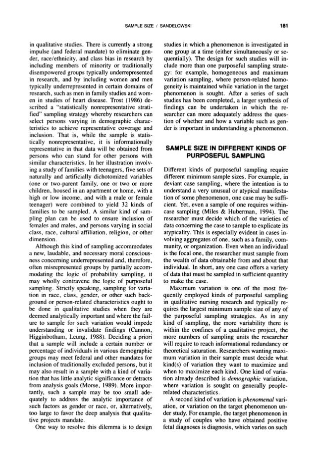 thesis methodology sample qualitative