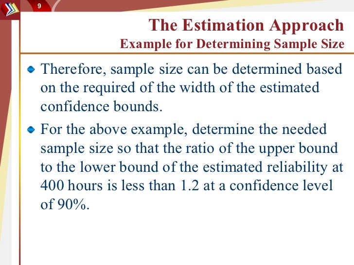 Sample size issues on reliability test design