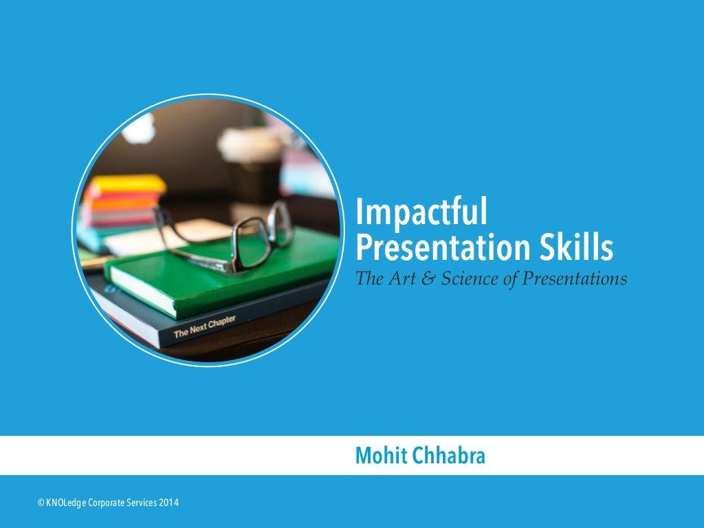 Sample Slides from the Impactful Presentation Skills Workshop