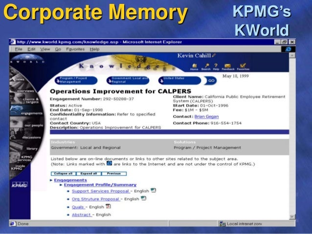 corporate memory kpmgs kworld 17