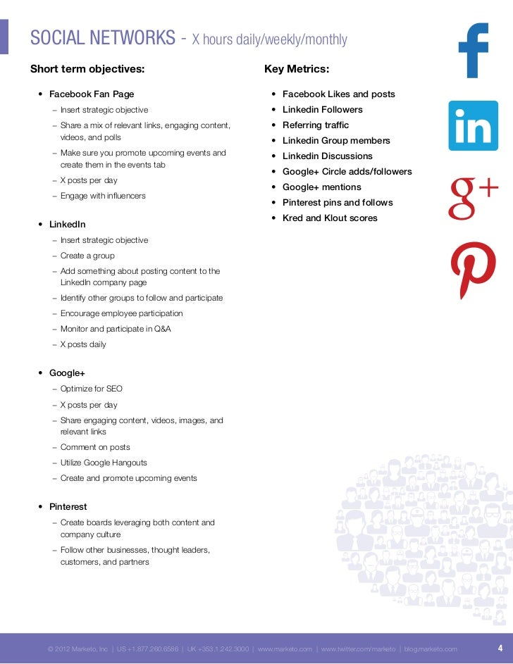 Sample Social Media Tactical Plan - Facebook media plan template