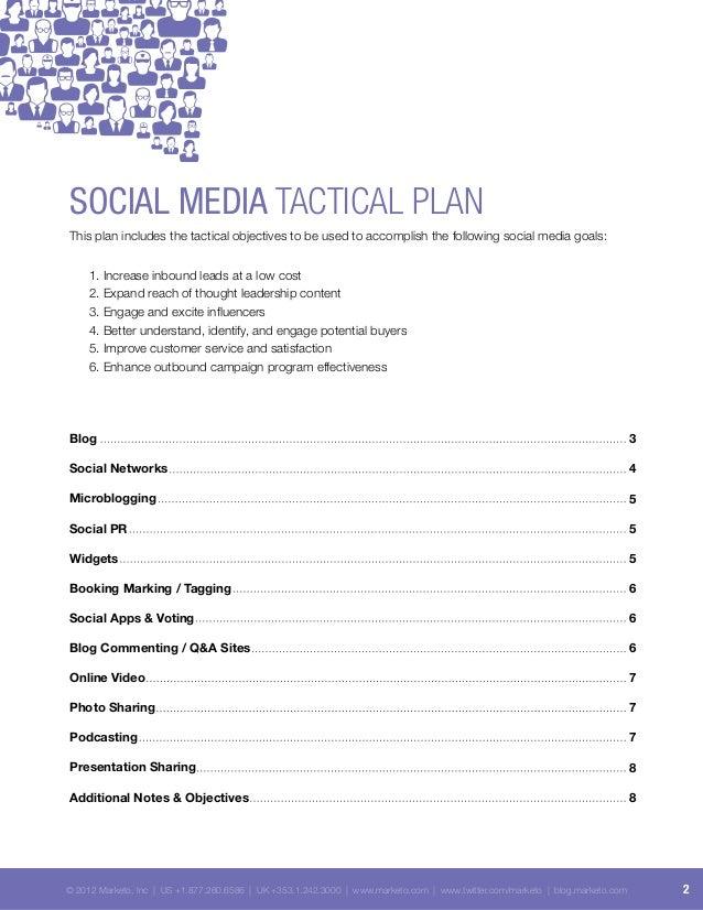Social Media Tactical Plan - Internet Marketing Slide 2