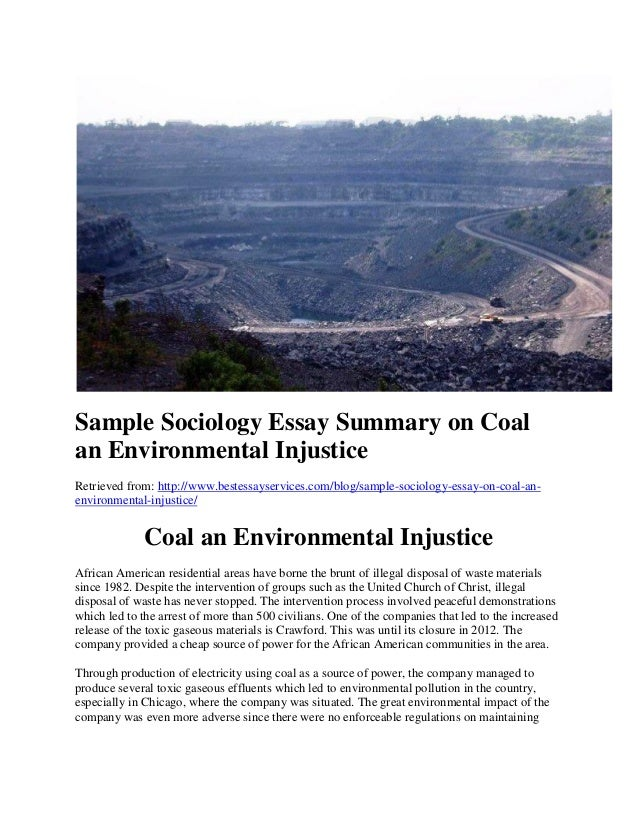 essays on environmental injustice Open document below is an essay on environmental injustice from anti essays, your source for research papers, essays, and term paper examples.