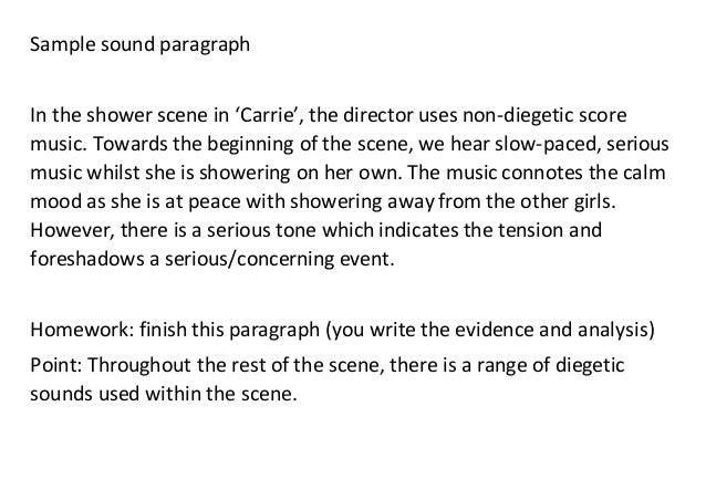 Sample sound paragraph