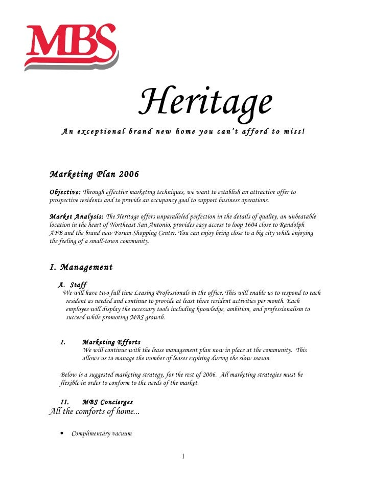 Great Heritage An Exceptional Brand New Home You Canu0027t Afford To Miss!Marketing  Plan ...  Marketing Proposal Letter