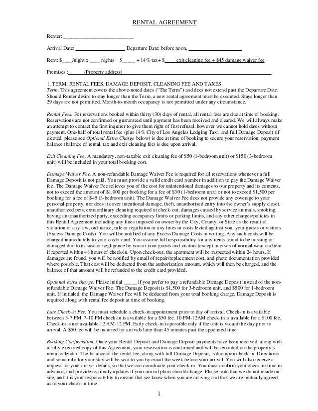 Sample Str Agreement 2