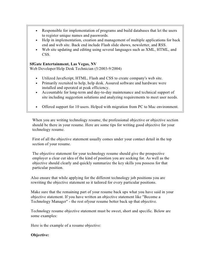 SlideShare  Student Resume Objective