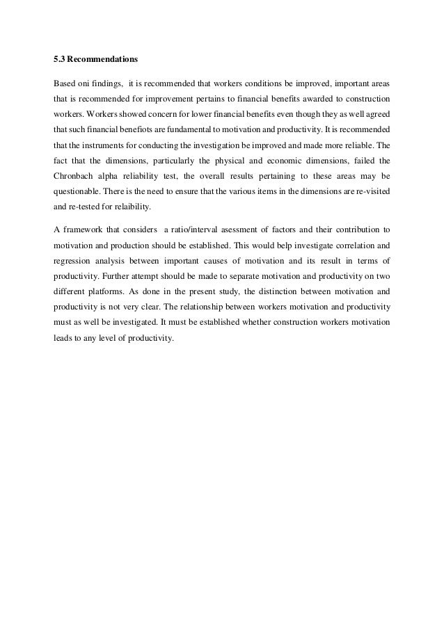 Conclusion And Recommendation Research Paper
