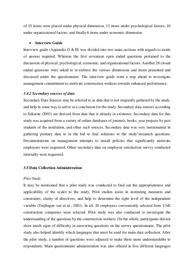 overview of the study in thesis