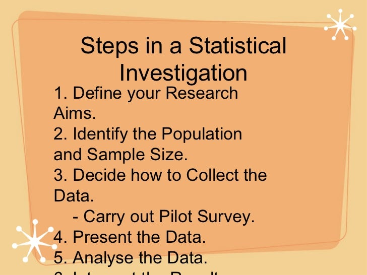 stages of statistical survey