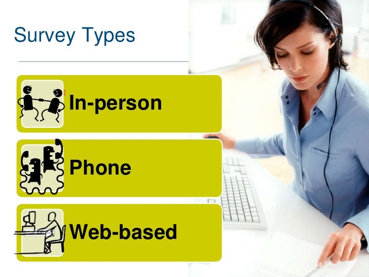 Survey Types     In-person     Phone     Web-based