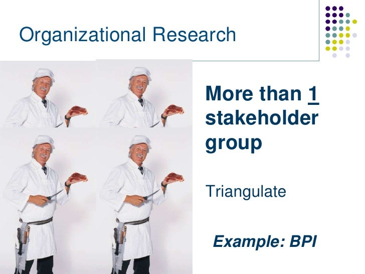 Organizational Research                   More than 1                   stakeholder                   group               ...