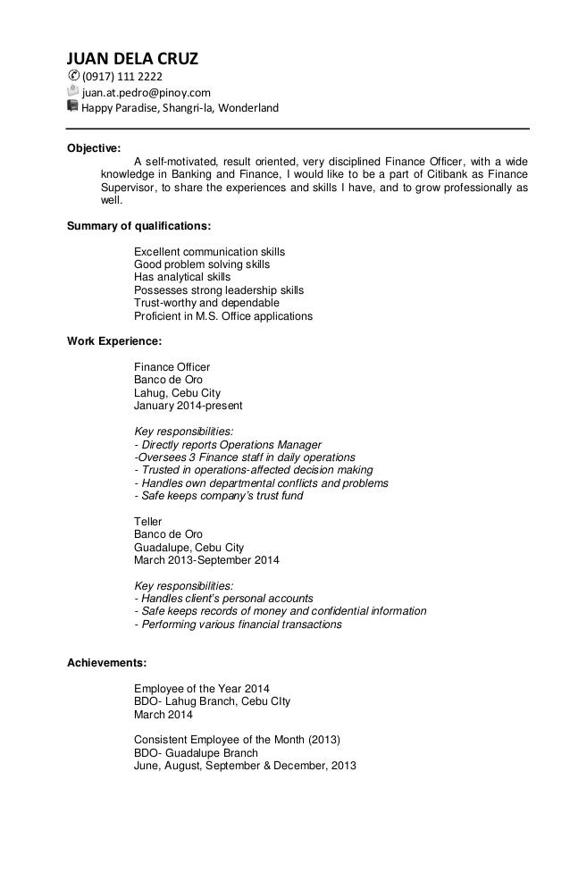 Sample Targeted Resume