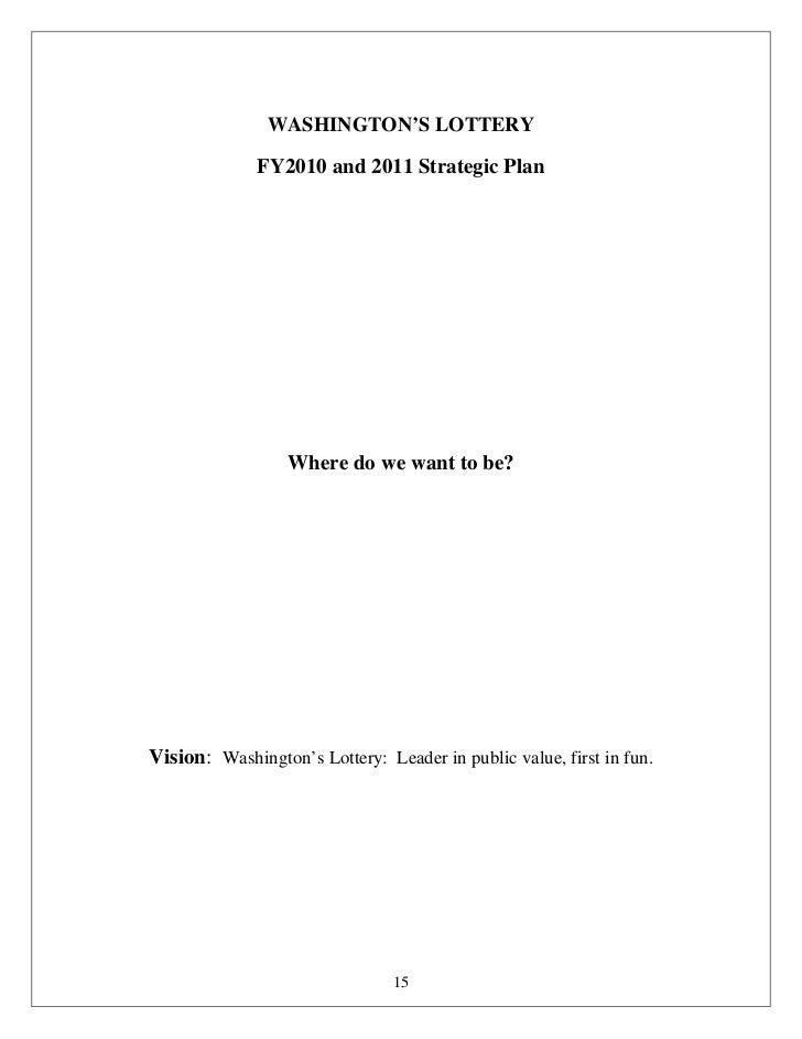 Washington's Lottery Business Plan