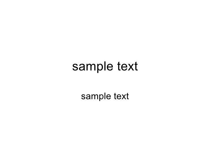 sample text sample text
