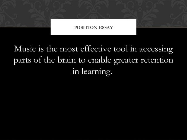 thesis statement about types of music Purpose of a thesis statement before discussing the different types of thesis statements, it is important to define the purpose of this essential part of your paper.
