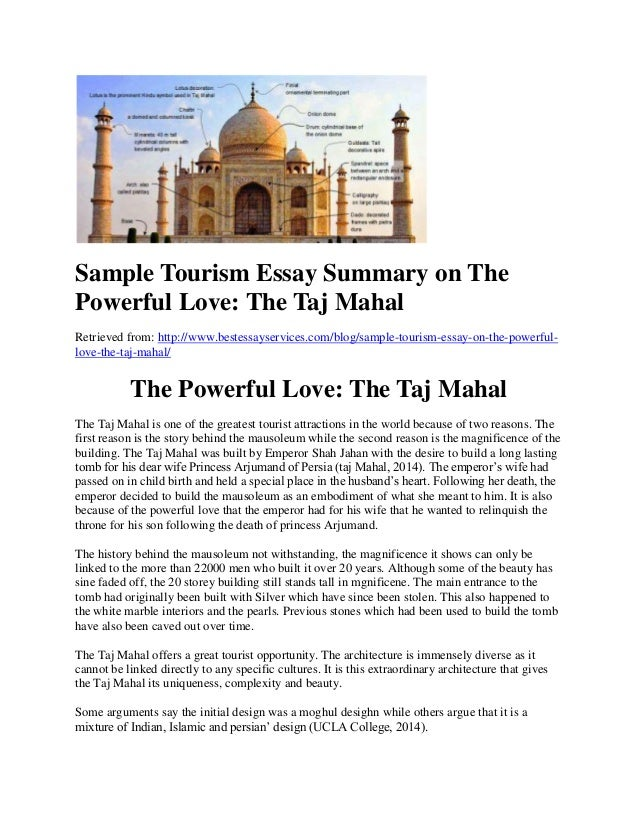 sample tourism essay summary on the powerful love the taj mahal sample tourism essay summary on the powerful love the taj mahal retrieved from