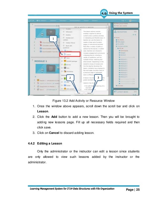 sample user manual learning management system rh slideshare net  example of a user manual for a system