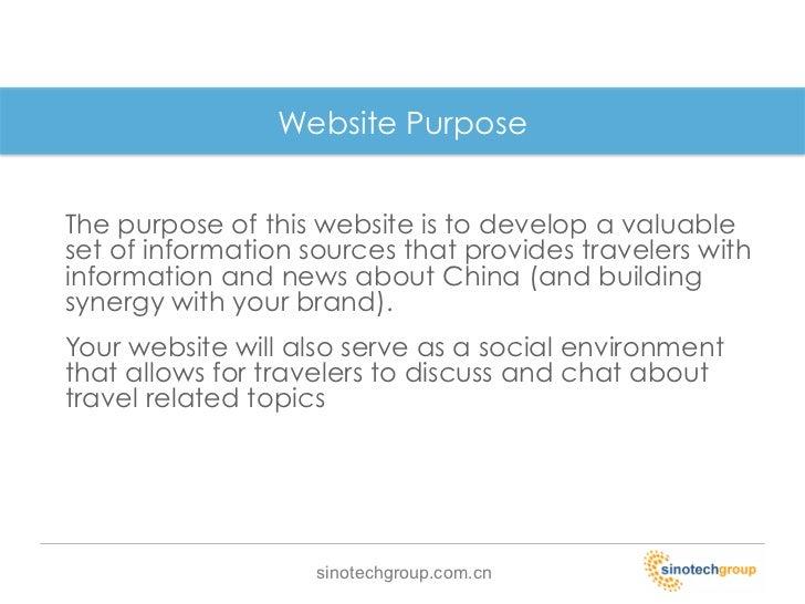 Website PurposeThe ...