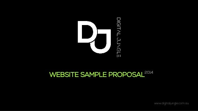 www.digitaljungle.com.au   WEBSITE SAMPLE PROPOSAL 2014